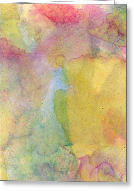 Abstract Expression Greeting Cards - Rainbow Valley  Greeting Card by Ken OToole
