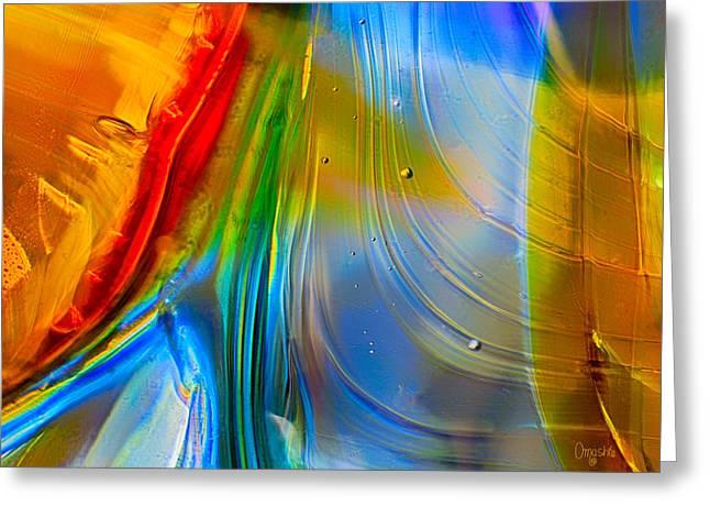Rainbow Waterfalls Greeting Card by Omaste Witkowski