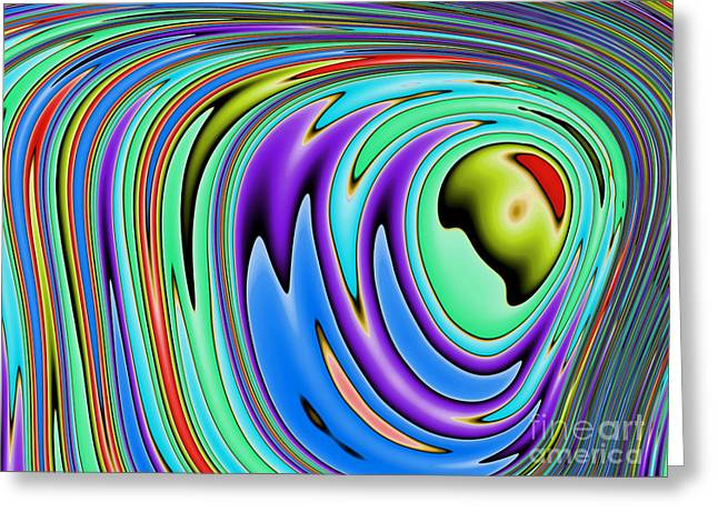 Metalic Greeting Cards - Rainbow in Abstract 02 Greeting Card by John Edwards