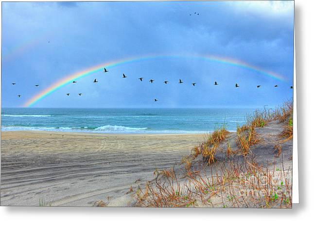 Beach Decor Framed Prints Greeting Cards - Rainbows and Wings I Greeting Card by Dan Carmichael