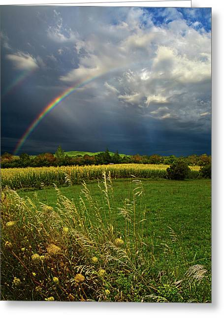 Myhorizonart Greeting Cards - Rainbows Greeting Card by Phil Koch