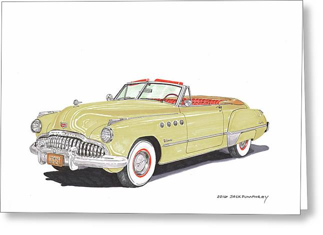 Rainman Buick Roadmaster Greeting Card by Jack Pumphrey