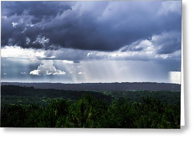 Storm Chasing Greeting Cards - Rainstorm Greeting Card by Shelby  Young