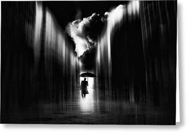 Man Greeting Cards - Rainwaker Greeting Card by Stefan Eisele