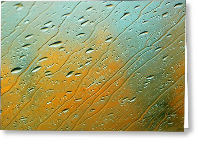 Rain Streaked Window Greeting Cards - Rainy Day Aspen Greeting Card by Susie Gillatt