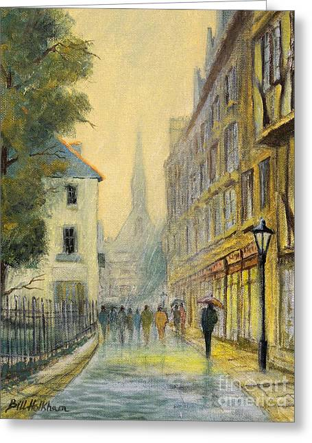 Rainy Day In Oxford Greeting Card by Bill Holkham