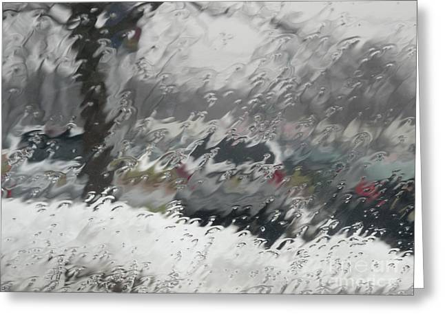 Sleet Greeting Cards - Rainy Day Greeting Card by Valerie Morrison