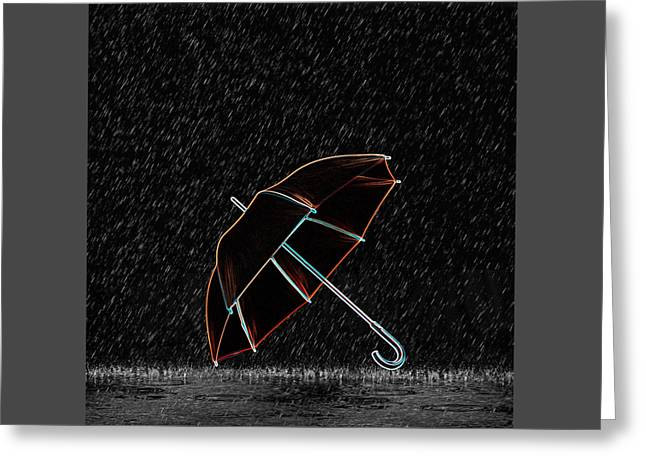 Rainy Night  Greeting Card by Art Spectrum