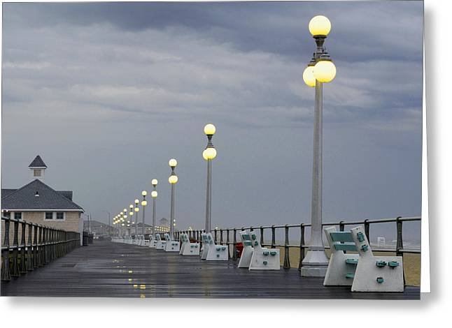 Storm Prints Greeting Cards - Rainy Summer Evening Greeting Card by Wally Bilotta