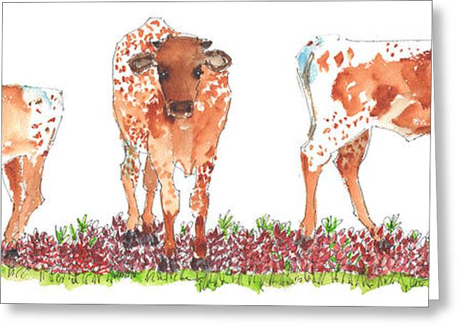 """texas Artist"" Greeting Cards - Raise Em Right Greeting Card by Kathleen McElwaine"