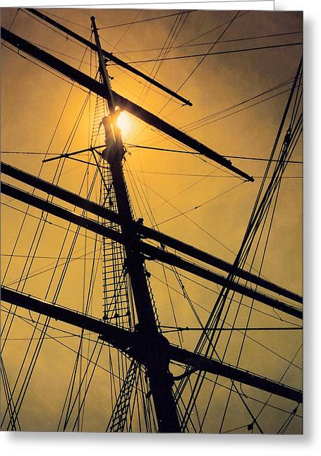 Tall Ships Greeting Cards - Raise the Sails Greeting Card by Lauri Novak