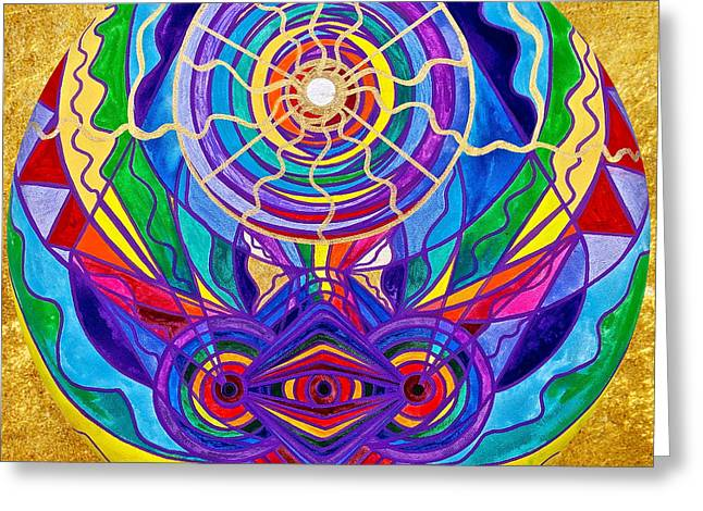 Raise Your Vibration Greeting Card by Teal Eye  Print Store