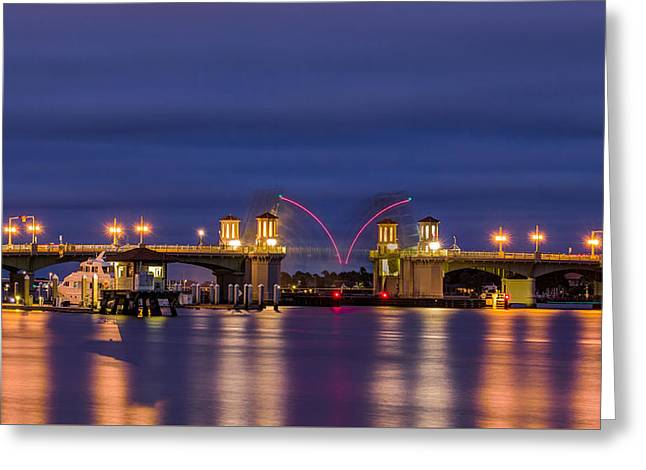 Famous Bridge Greeting Cards - Raising Bridge of Lions  Greeting Card by Rob Sellers