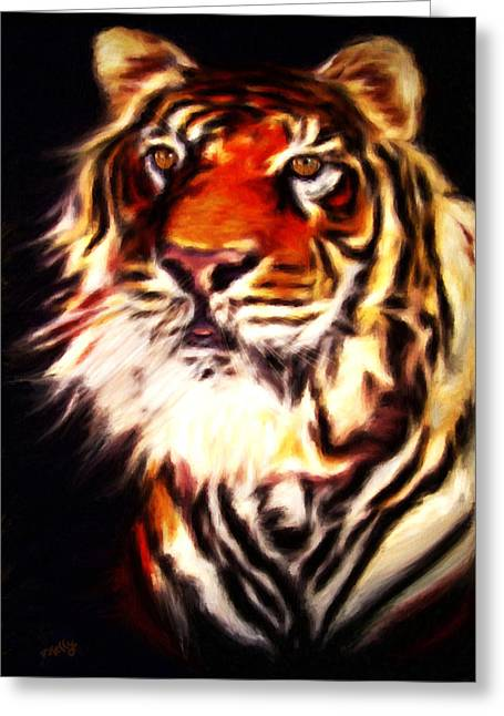 Kelly Greeting Cards - Rajah Greeting Card by Valerie Anne Kelly
