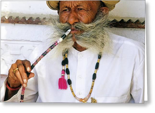 Rajasthani Elder Greeting Card by Michele Burgess