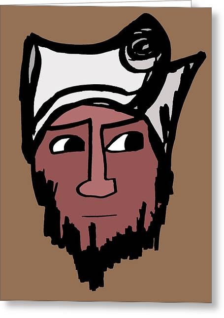 Character Portraits Greeting Cards - Rajib Greeting Card by Jera Sky