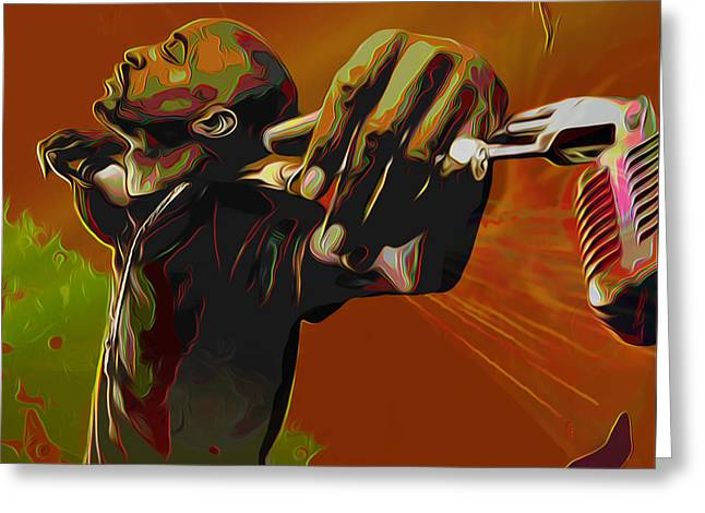 Byron Fli Walker Greeting Cards - Rakim Greeting Card by  Fli Art