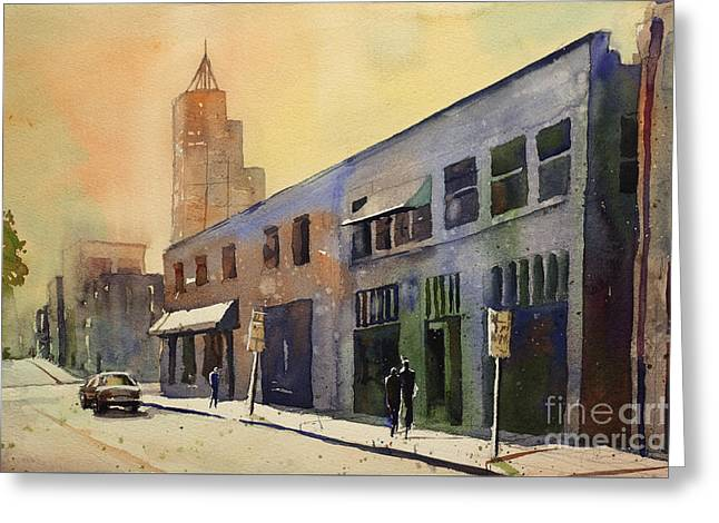 Art Reproduction Greeting Cards - Raleigh Art District Greeting Card by Ryan Fox