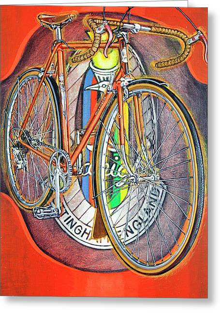 Raleigh Gran Sport Greeting Card by Mark Howard Jones