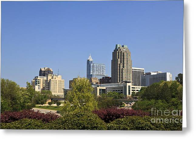 Uptown Rooftop Greeting Cards - Raleigh NC Greeting Card by Jill Lang