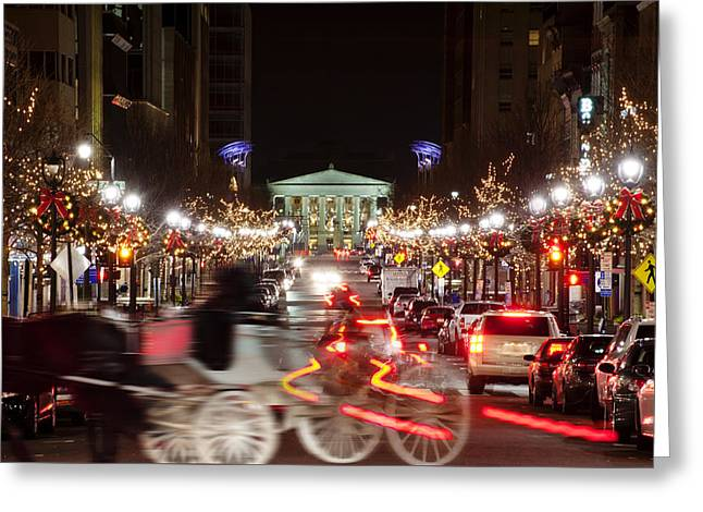 Long Street Greeting Cards - Raleigh winterscape Greeting Card by Dennis Ludlow