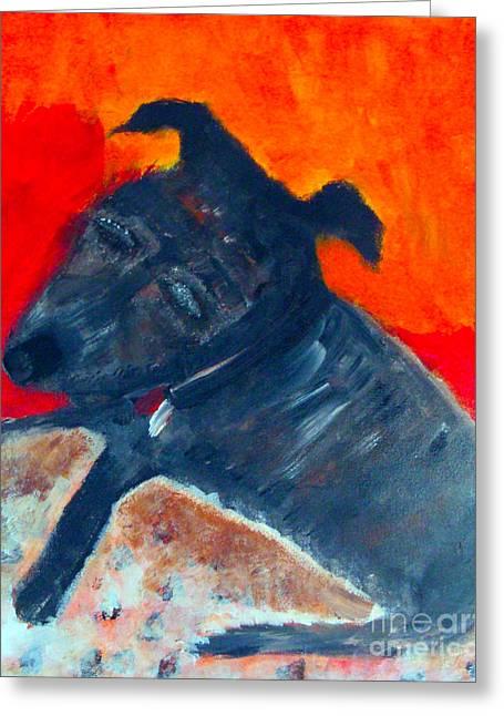 Doggies Greeting Cards - Ralf The Dog Greeting Card by Kim Magee ART