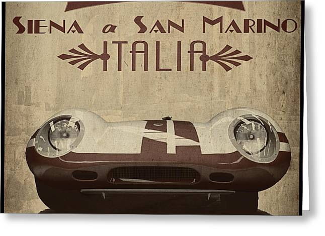 Rally Italia Greeting Card by Cinema Photography