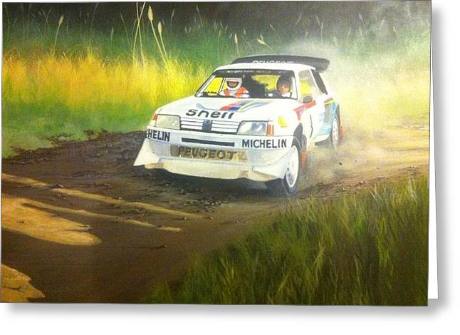 Rally Greeting Cards - Rally of New Zealand 1985 Greeting Card by Devon Packwood