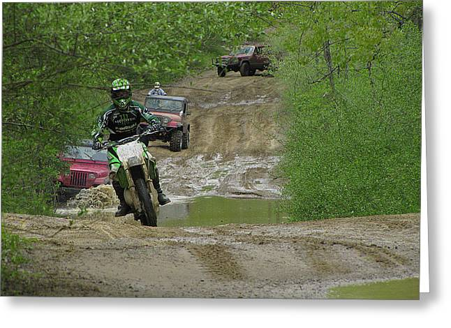 Rally Greeting Cards - Rally Race Greeting Card by Scott Hovind