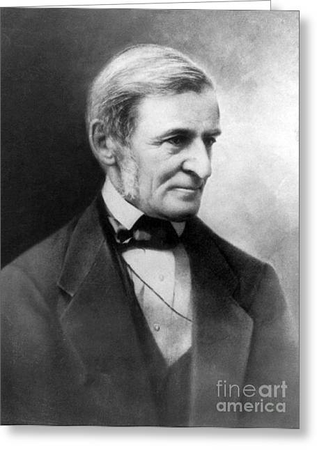 Ralph Waldo Emerson, American Author Greeting Card by Photo Researchers