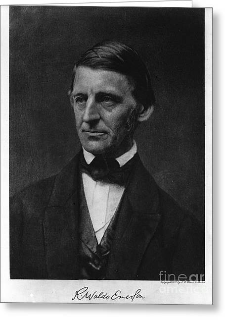 Ralph Waldo Emerson Greeting Card by Celestial Images
