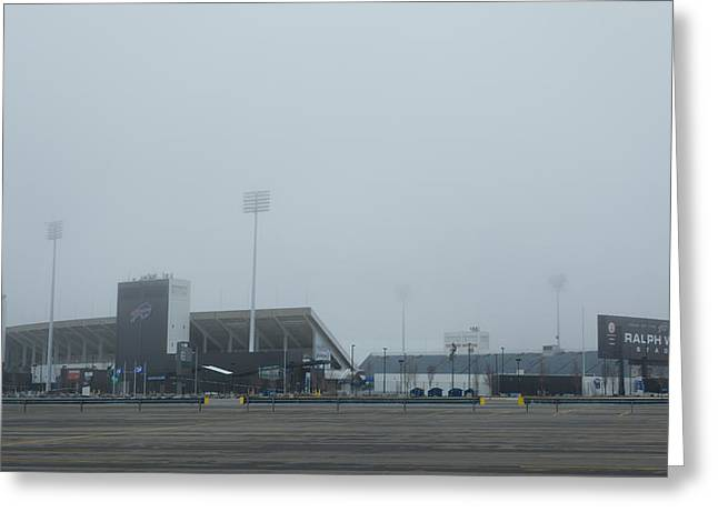 Seated Buffalo Greeting Cards - Ralph Wilson Stadium  7K14676 Greeting Card by Guy Whiteley