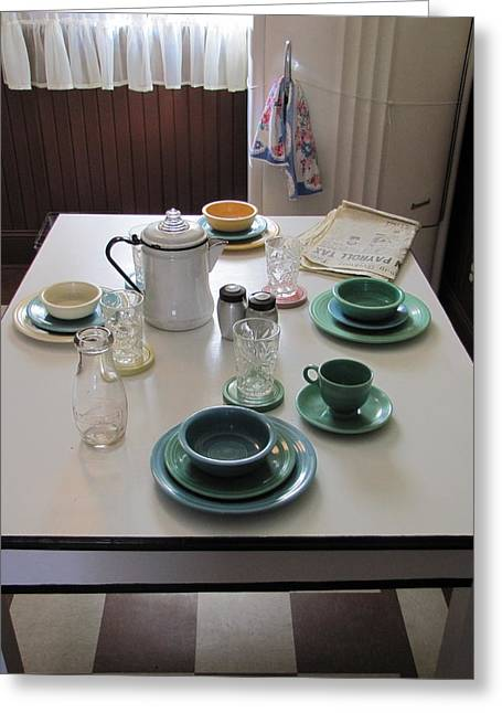 A Christmas Story Greeting Cards - Ralphies Breakfast Table Greeting Card by Kelly Mezzapelle