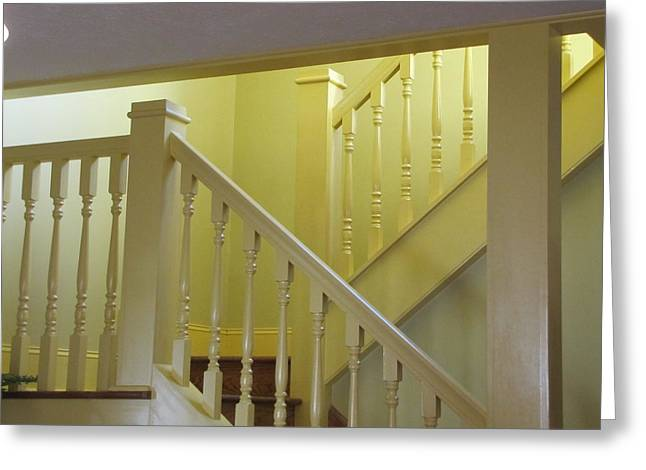 A Christmas Story Greeting Cards - Ralphies Staircase Greeting Card by Kelly Mezzapelle