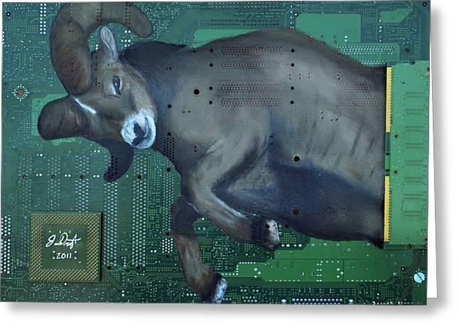 Ram Greeting Card by Joe Dragt