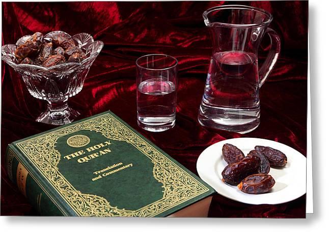 Glass Bowls Greeting Cards - Ramadan evening Greeting Card by Paul Cowan