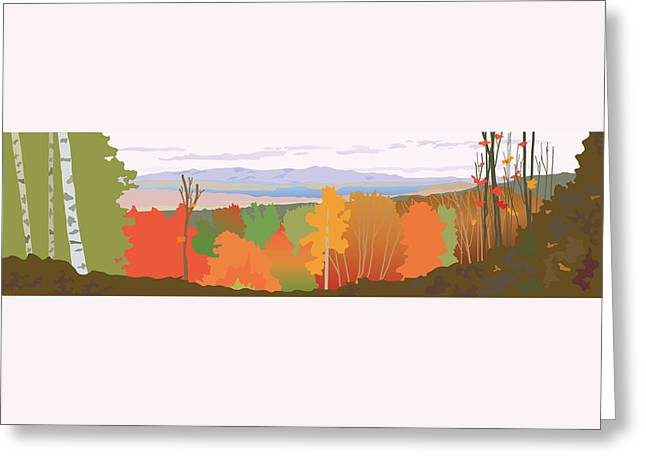 The Trees Greeting Cards - Ramblin View Greeting Card by Marian Federspiel
