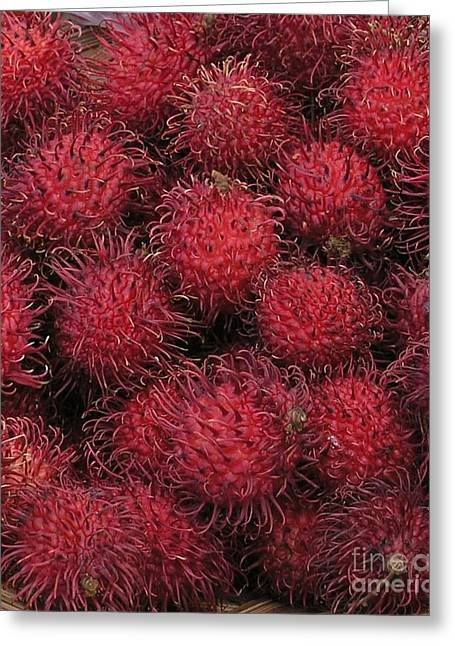 Rambutan Greeting Cards - Rambutan Greeting Card by Mary Deal