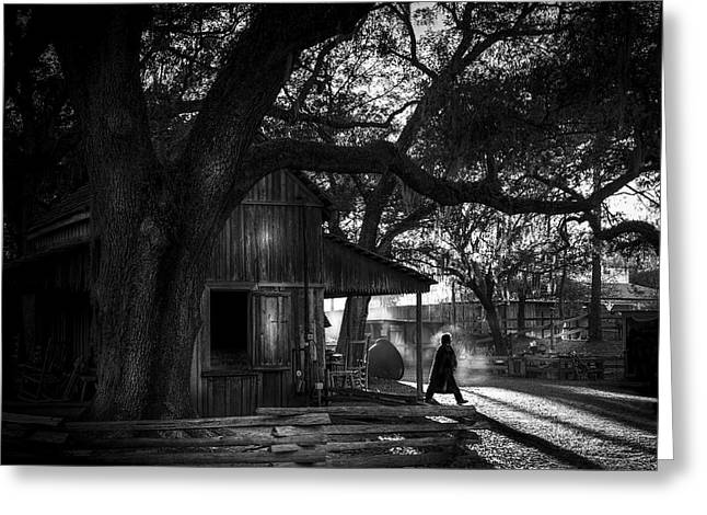 Ranch Hand Bw Greeting Card by Marvin Spates