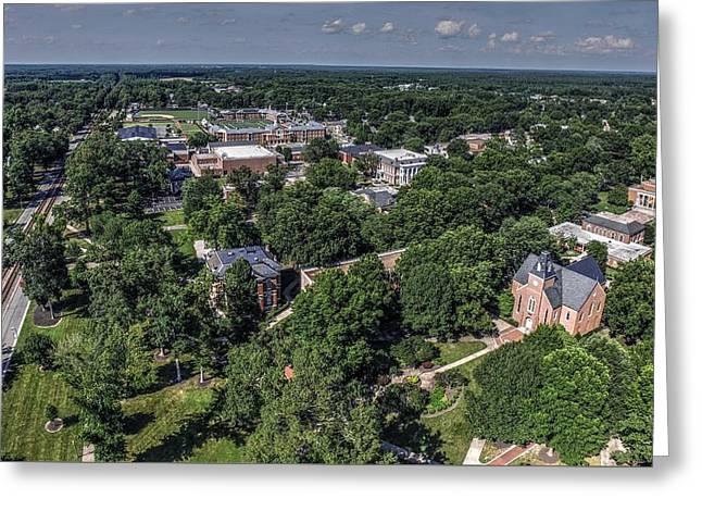 Randolph Macon College Greeting Card by Tredegar DroneWorks