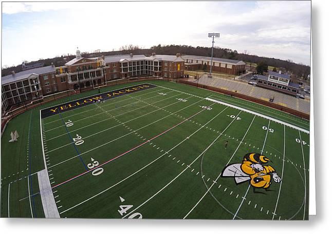 Randolph Macon Football Field Greeting Card by Creative Dog Media