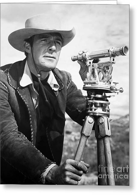 1941 Movies Greeting Cards - Randolph Scott (1898-1987) Greeting Card by Granger