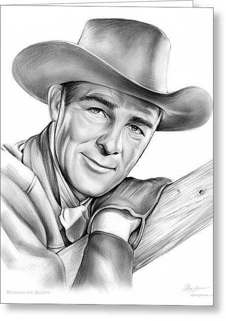 Randolph Scott Greeting Card by Greg Joens