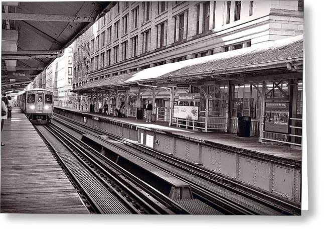 Elevated Greeting Cards - Randolph Street Station Chicago Greeting Card by Steve Gadomski