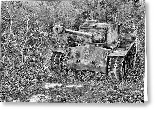 Army Tank Greeting Cards - Random  Greeting Card by JC Findley