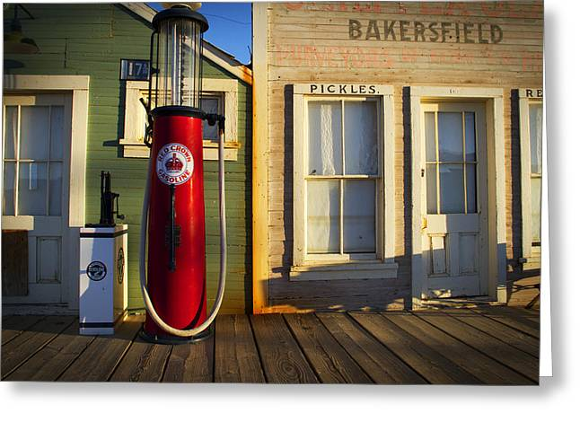 Mike Hill Greeting Cards - Randsburg Pump Greeting Card by Mike Hill