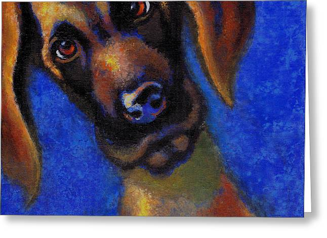 Randy Greeting Cards - Randy Greeting Card by Mary J Russell