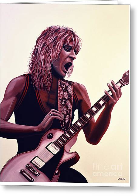 Randy Rhoads Greeting Card by Paul Meijering