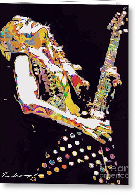Randy Digital Art Greeting Cards - Randy Rhoads Greeting Card by Tim Wemple