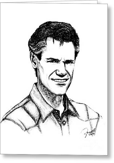 Randy Greeting Cards - Randy Travis Greeting Card by Max Francisco